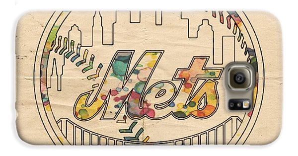 New York Mets Poster Vintage Galaxy S6 Case