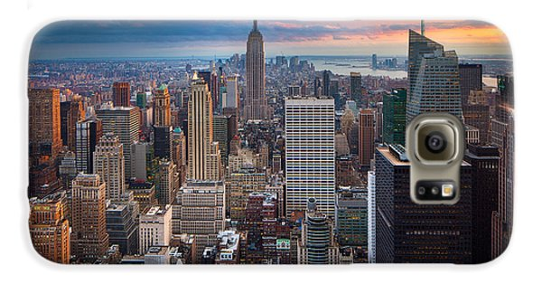 Empire State Building Galaxy S6 Case - New York New York by Inge Johnsson