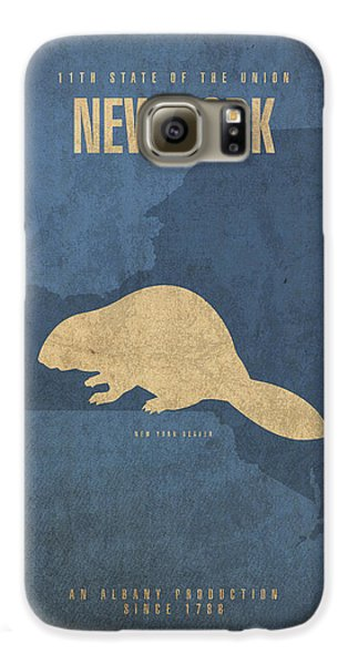 New York State Facts Minimalist Movie Poster Art  Galaxy S6 Case