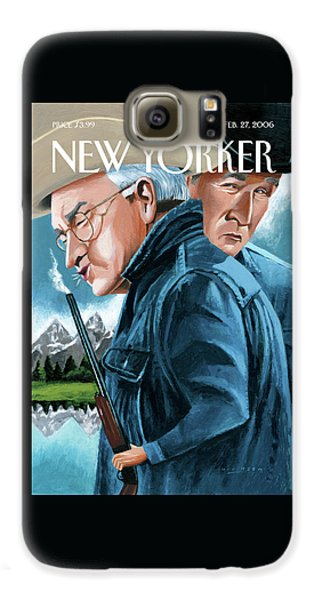 Dick Cheney Galaxy S6 Case - New Yorker February 27th, 2006 by Mark Ulriksen