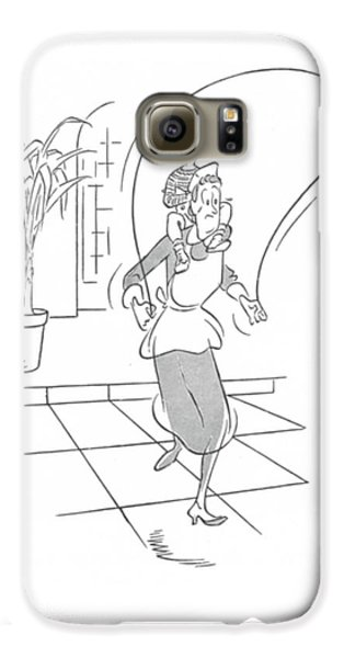 Boy George Galaxy S6 Case - New Yorker February 7th, 1942 by George Price