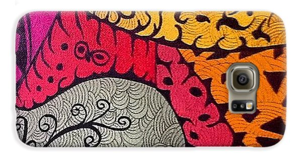 Galaxy S6 Case - Nice Colors In A Doodling Designs I by Sandra Lira