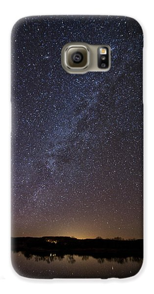 Night Sky Reflected In Lake Galaxy S6 Case