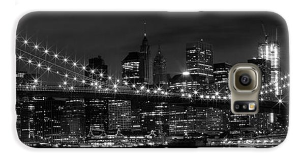Night-skyline New York City Bw Galaxy S6 Case by Melanie Viola