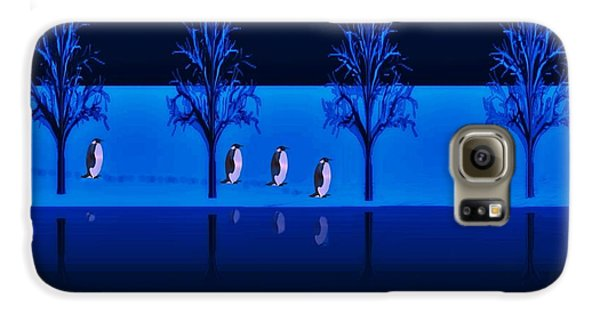 Night Walk Of The Penguins Galaxy S6 Case