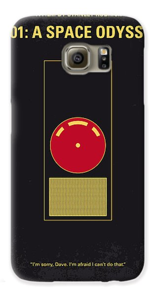 Space Galaxy S6 Case - No003 My 2001 A Space Odyssey 2000 Minimal Movie Poster by Chungkong Art