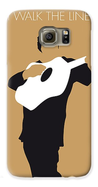 No010 My Johnny Cash Minimal Music Poster Galaxy S6 Case by Chungkong Art