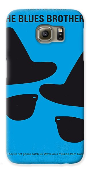 City Scenes Galaxy S6 Case - No012 My Blues Brother Minimal Movie Poster by Chungkong Art