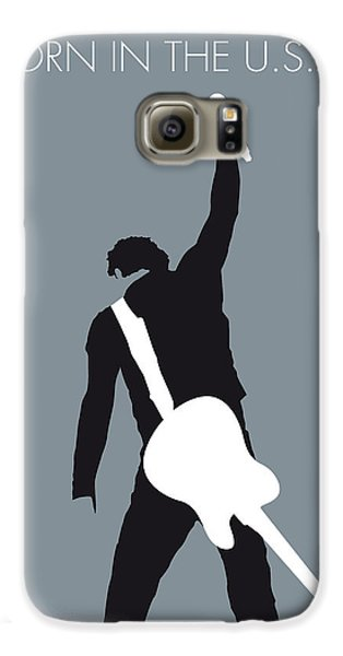 Guitar Galaxy S6 Case - No017 My Bruce Springsteen Minimal Music Poster by Chungkong Art