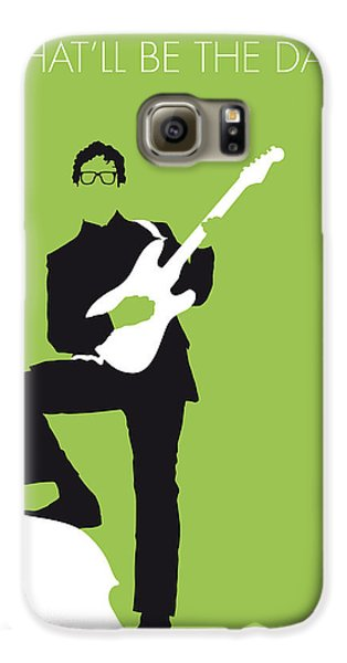 No056 My Buddy Holly Minimal Music Poster Galaxy S6 Case by Chungkong Art