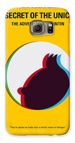 Unicorn Galaxy S6 Case - No096 My Tintin-3d Minimal Movie Poster by Chungkong Art