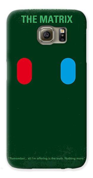 No117 My Matrix Minimal Movie Poster Galaxy S6 Case by Chungkong Art