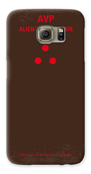 Outer Space Galaxy S6 Case - No148 My Avp Minimal Movie Poster by Chungkong Art