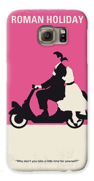 No205 My Roman Holiday Minimal Movie Poster Galaxy S6 Case by Chungkong Art
