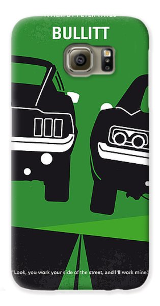 No214 My Bullitt Minimal Movie Poster Galaxy S6 Case by Chungkong Art