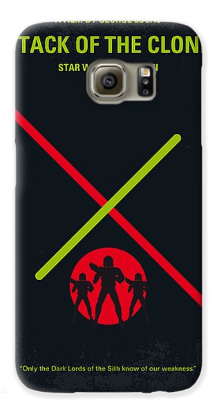 Falcon Galaxy S6 Case - No224 My Star Wars Episode II Attack Of The Clones Minimal Movie Poster by Chungkong Art