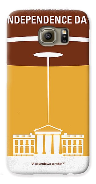 Outer Space Galaxy S6 Case - No249 My Independence Day Minimal Movie Poster by Chungkong Art