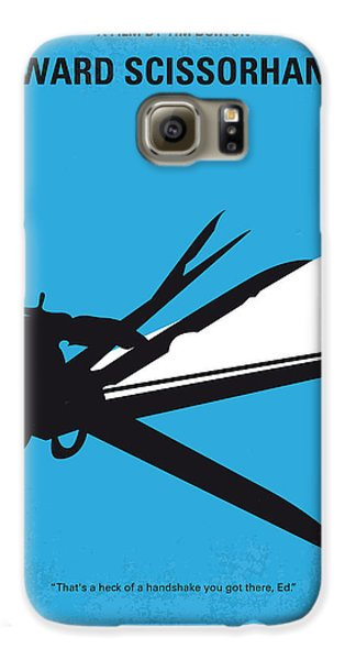 Johnny Depp Galaxy S6 Case - No260 My Scissorhands Minimal Movie Poster by Chungkong Art
