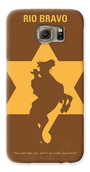 No322 My Rio Bravo Minimal Movie Poster Galaxy S6 Case