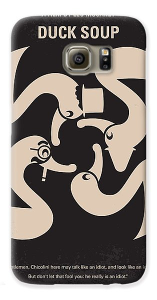 Duck Galaxy S6 Case - No370 My Duck Soup Minimal Movie Poster by Chungkong Art