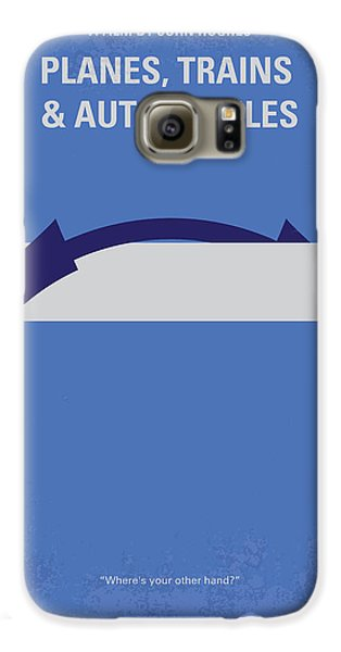 Automobile Galaxy S6 Case - No376 My Planes Trains And Automobiles Minimal Movie Poster by Chungkong Art