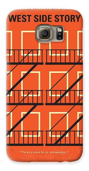 No387 My West Side Story Minimal Movie Poster Galaxy S6 Case by Chungkong Art