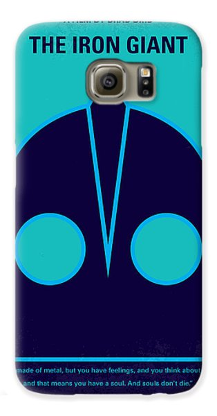 Outer Space Galaxy S6 Case - No406 My The Iron Giant Minimal Movie Poster by Chungkong Art