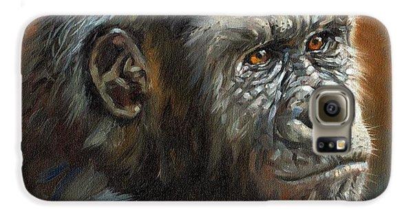 Gorilla Galaxy S6 Case - Noble Ape by David Stribbling