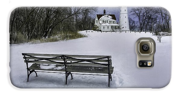 North Point Lighthouse And Bench Galaxy S6 Case by Scott Norris