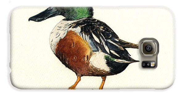 Duck Galaxy S6 Case - Northern Shoveler by Juan  Bosco