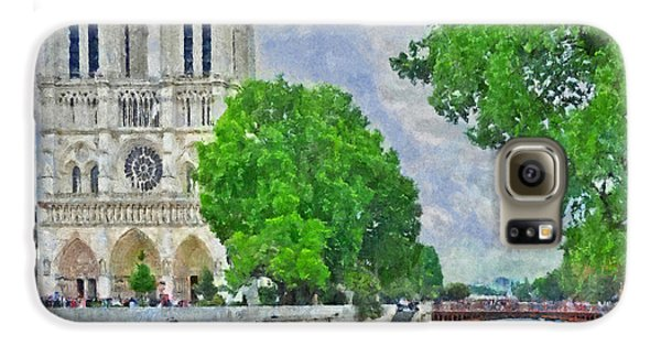 Notre Dame And The River Seine Galaxy S6 Case