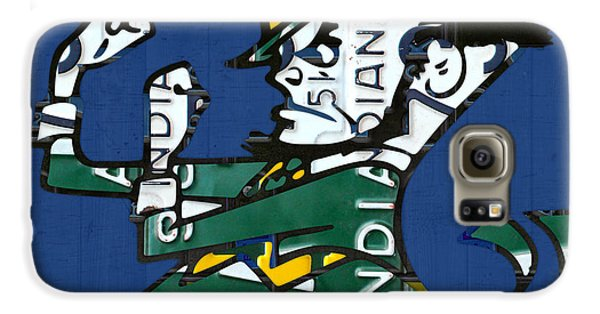 Notre Dame Fighting Irish Leprechaun Vintage Indiana License Plate Art  Galaxy S6 Case by Design Turnpike