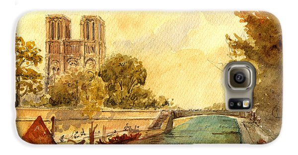 Notre Dame Paris. Galaxy S6 Case by Juan  Bosco
