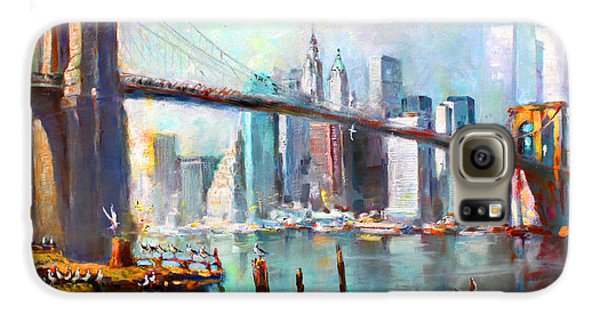 City Scenes Galaxy S6 Case - Ny City Brooklyn Bridge II by Ylli Haruni