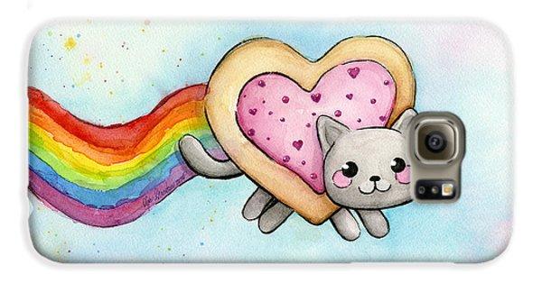 Nyan Cat Valentine Heart Galaxy S6 Case