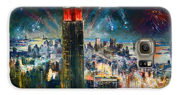 Empire State Building Galaxy S6 Case - Nyc In Fourth Of July Independence Day by Ylli Haruni