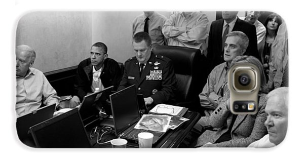 Joe Biden Galaxy S6 Case - Obama In White House Situation Room by War Is Hell Store