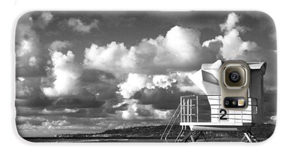 Ocean Beach Lifeguard Tower Galaxy S6 Case by Nathan Rupert