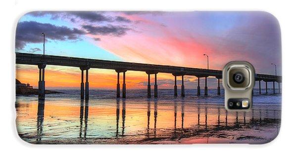 Ocean Beach Sunset Galaxy S6 Case by Nathan Rupert