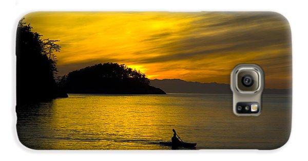 Ocean Sunset At Rosario Strait Galaxy S6 Case