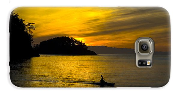 Ocean Sunset At Rosario Strait Galaxy S6 Case by Yulia Kazansky