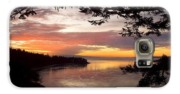 Ocean Sunset Deception Pass Galaxy S6 Case