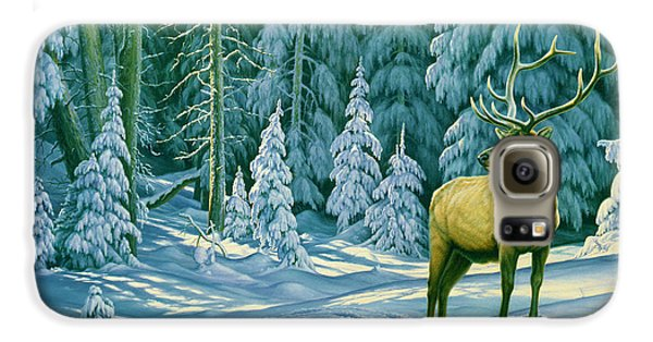 Bull Galaxy S6 Case - October Snow by Paul Krapf