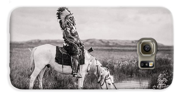 Horse Galaxy S6 Case - Oglala Indian Man Circa 1905 by Aged Pixel