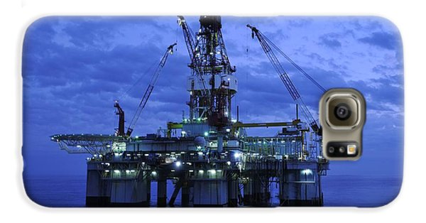 Oil Rig At Twilight Galaxy S6 Case