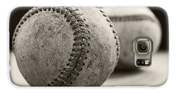 Old Baseballs Galaxy S6 Case by Edward Fielding
