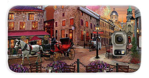 Galaxy S6 Case featuring the drawing Old Montreal by David M ( Maclean )