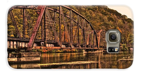 Galaxy S6 Case featuring the photograph Old Railroad Bridge With Sepia Tones by Jonny D