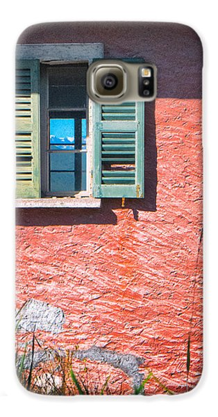 Galaxy S6 Case featuring the photograph Old Window With Reflection by Silvia Ganora
