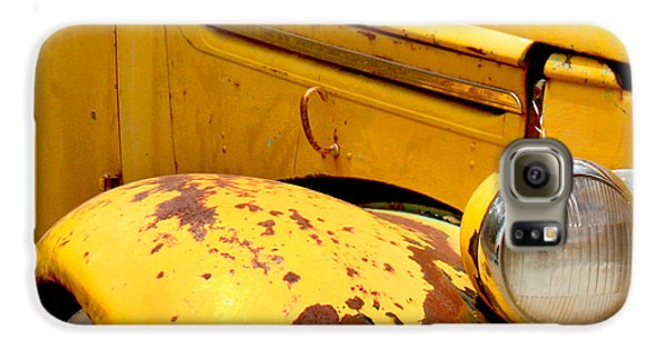 Old Yellow Truck Galaxy S6 Case by Art Block Collections